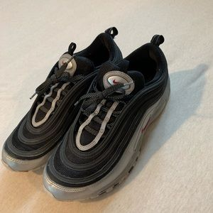 Nike Shoes - nike airmax 97 silver and black